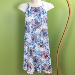 Westport 1962 floral open knit swing dress